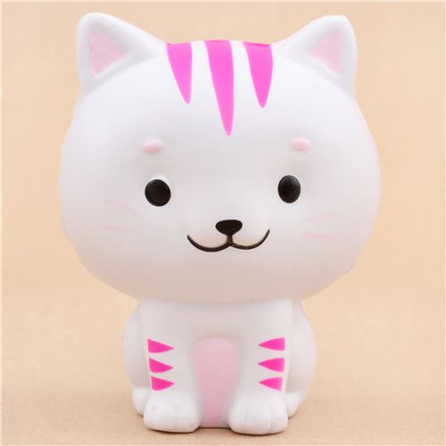 White Squishy Face Cat : Faulty - cute white Chawa Little Mafia Lucky Cat kitty squishy kawaii - Cheap Squishy ...