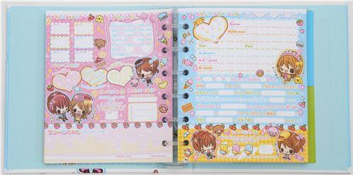 friendship book glitter girls kamio japan memo pads stationery