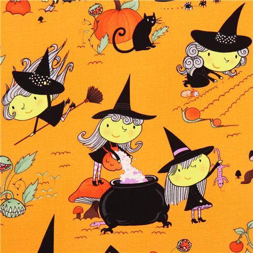 Hexen Halloween Stoff Alexander Henry Gwendolyn Goodwitch ...