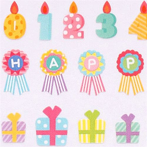 Happy Birthday Present Stickers From Japan Crux 3