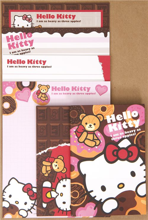 hello kitty letter set with donuts from japan letter sets