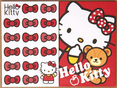 hello kitty letter set with teddy bear from japan letter sets