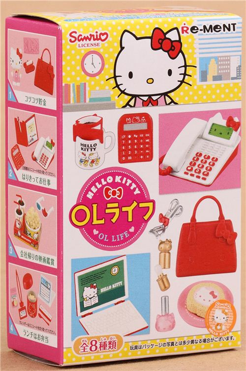 Hello Kitty Ol Life Office Lady Re Ment Miniature Blind