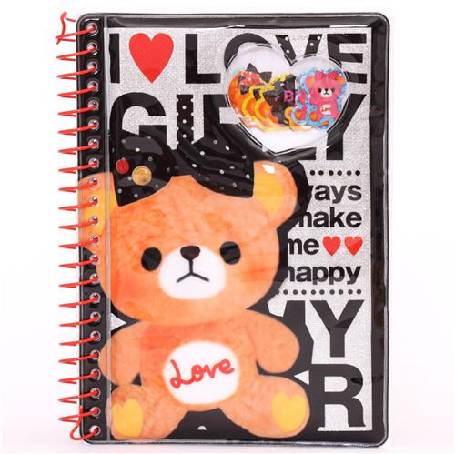 I Love Teddy Bear Glitter Sticker Album Sticker Books
