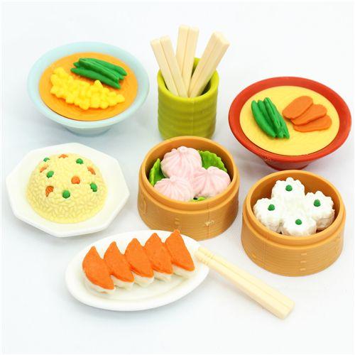 Iwako erasers Chinese Dim Sum 7 pieces set - Food Eraser