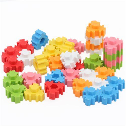 Iwako erasers Hexagon Puzzle Eraser set from Japan