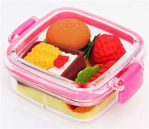 iwako erasers food pink box 4 pieces set food eraser eraser stationery kawaii shop modes4u. Black Bedroom Furniture Sets. Home Design Ideas