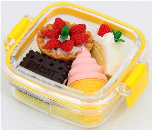 iwako radiergummi gelbe dessert box 4 st ck set dessert. Black Bedroom Furniture Sets. Home Design Ideas