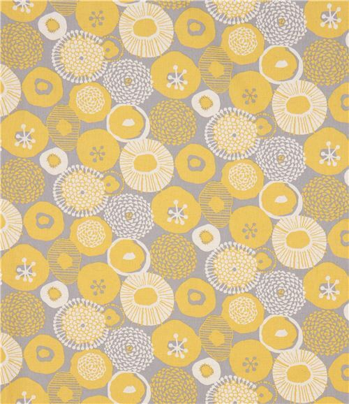 Japanese canvas fabric with chartreuse flowers flower fabric japanese canvas fabric from flower mustard yellow flowers 2 mightylinksfo