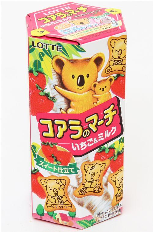 koala strawberry milk biscuit cookies - snacks-food
