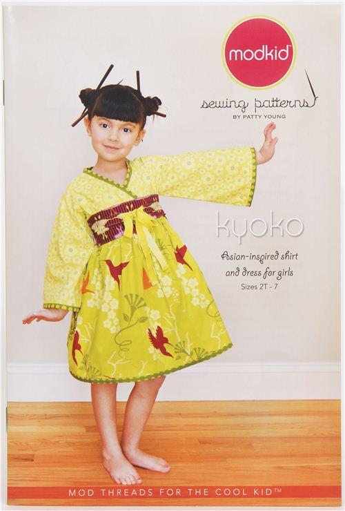 Japanese children skirt & dress sewing pattern Kyoko Modkid - Sewing ...
