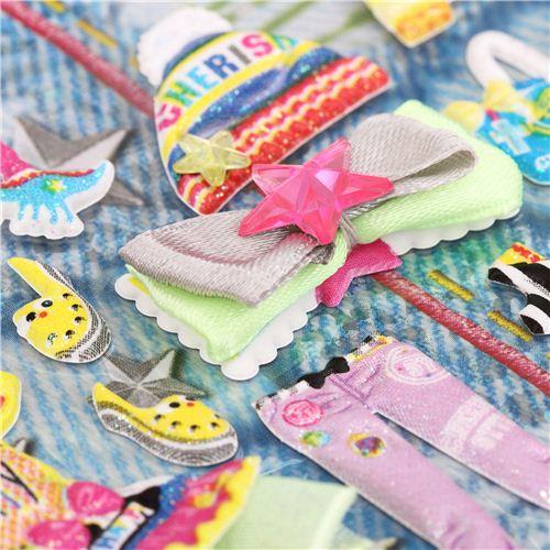 kamio anzieh puppen 3d sticker hipster m dchen aus japan s e sticker sticker schreibwaren. Black Bedroom Furniture Sets. Home Design Ideas