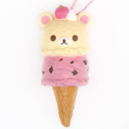 Korilakkuma Ice Cream Squishy Cellphone Charm Food
