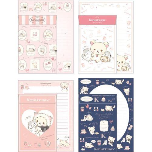 Korilakkuma Letter writing set Cute Cats San-X 2017 Rilakkuma Japan Kawaii