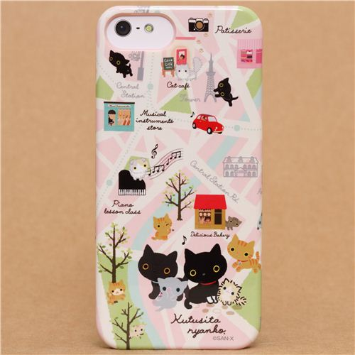kawaii iphone 5 case kutusita nyanko cat map iphone 5 5s cover 15599