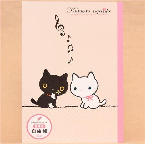 Kutusita nyanko cat music note notepad drawing book memo for Note musicali dwg