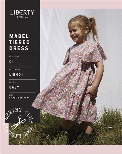 Liberty of London motifs-Mabel hiérarchisé robe enfant-Easy-Imprimé Motif