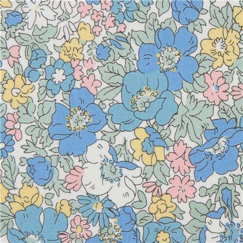 Fiori Liberty.Liberty Fabrics Packed Blooming Flower Garden Fabric Modes4u