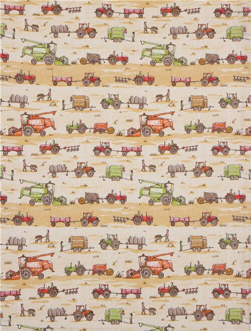 Tractor Jersey Fabric 95/% COTTON 5/% SPANDEX METRE MATERIAL farming vehicles
