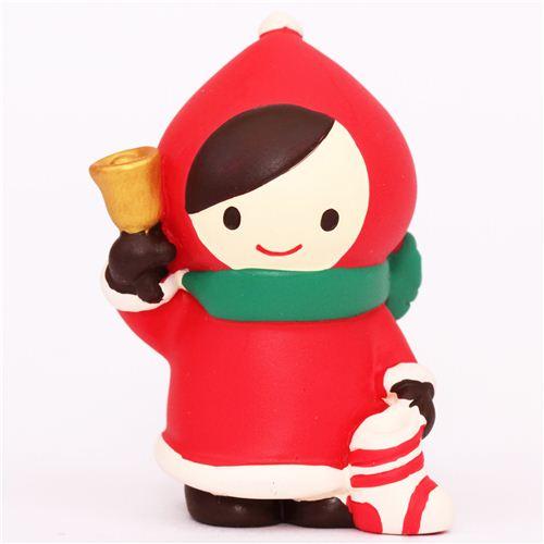 figurine de no l le petit chaperon rouge avec une clochette figurines papeterie boutique. Black Bedroom Furniture Sets. Home Design Ideas