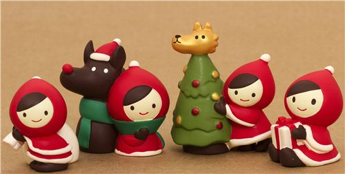 Riding Toys For Boys : Little red riding hood with wolf christmas figure japan