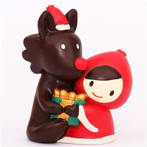 figurine de no l le petit chaperon rouge le loup 1 cadeau figurines papeterie boutique. Black Bedroom Furniture Sets. Home Design Ideas