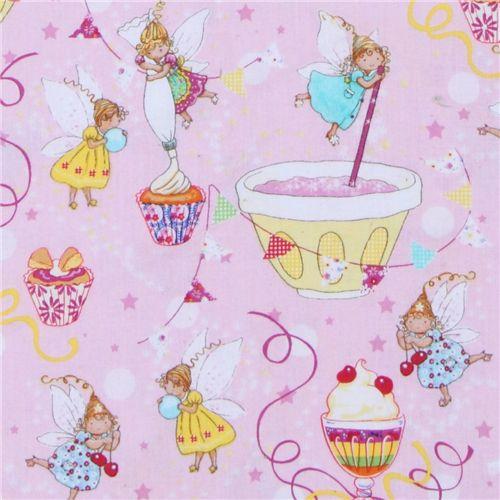 michael miller designer fabric sugar fairies cute fairy children fabric fabric kawaii shop. Black Bedroom Furniture Sets. Home Design Ideas