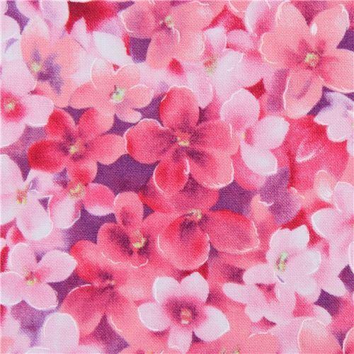 Tela De Flores Rosas De Michael Miller Modess4u Tienda Kawaii