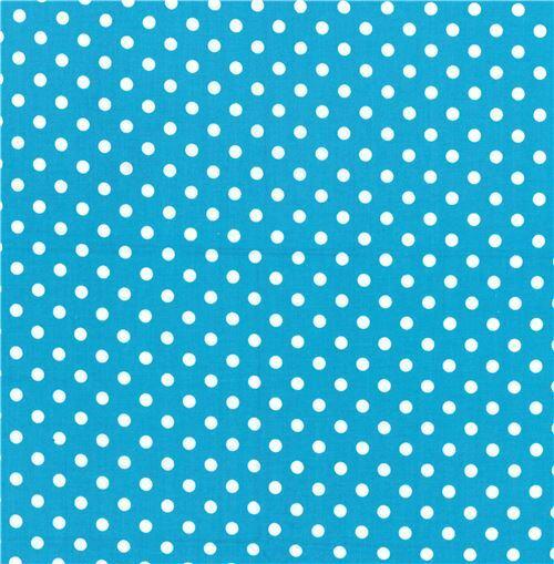 camiseta azul com estampa de bolinhas brancas