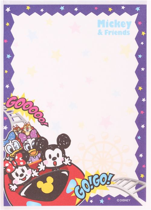Mickey Mouse Rollercoaster Memo Pad By Kamio Memo Pads