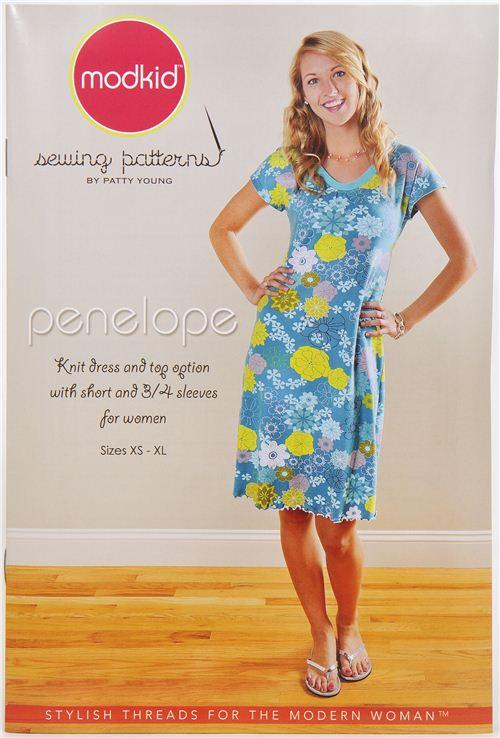Modkid Womens Dress Top Sewing Pattern Penelope Sewing Patterns