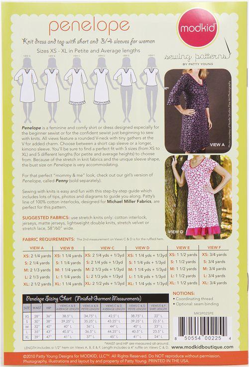 Patrones de costura vestido y top Modkid Penelope - Patrones de ...