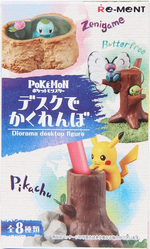 Pokemon Pikachu Diorama Desktop Figure Re-Ment miniature blind box