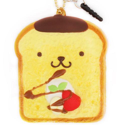Pompompurin Squishy Bun : Pom Pom Purin toast bread dog squishy cellphone charm - Food Squishy - Squishies - Kawaii Shop ...