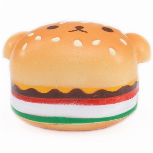 Squishy Burger Mirror : cute small bear shape burger with face squishy charm cheeseburger - Food Squishy - Squishies ...