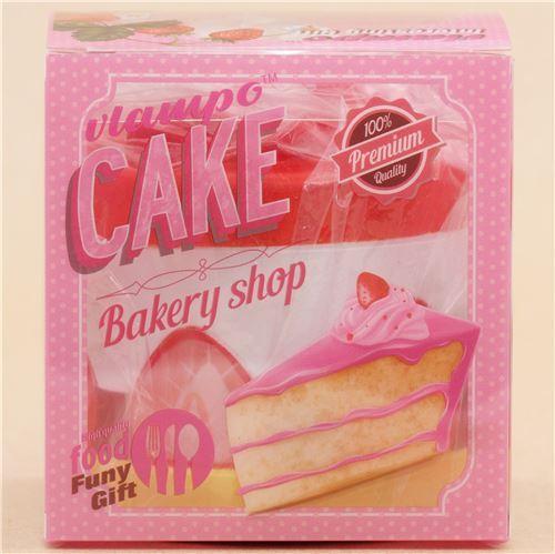 Cute red white yellow strawberry round cake Vlampo squishy kawaii - Food Squishies - Squishies ...