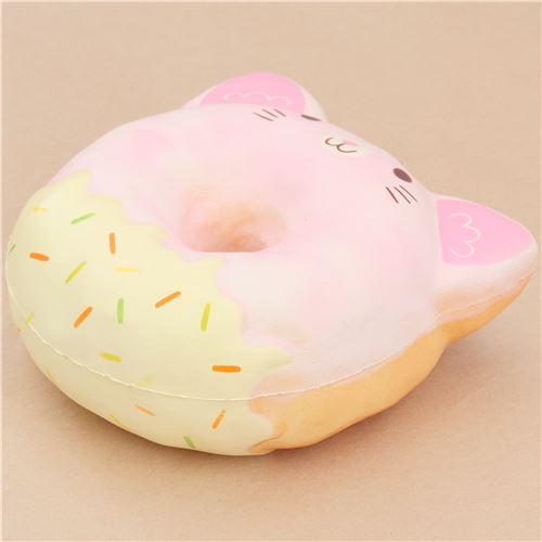 Squishy Pink Donut : Puni Maru light pink cat donut squishy by Puni Maru - Puni Maru Squishies - Squishies - Kawaii ...
