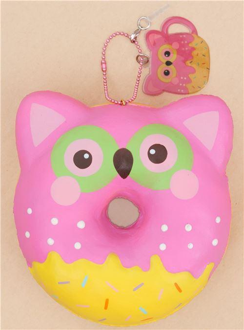 Squishy Pink Donut : Puni Maru pink owl donut squishy by Puni Maru - Puni Maru Squishy - Squishies - Kawaii Shop modeS4u