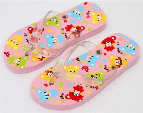 q lia flip flops kinder sandalen s sse teddy b ren schuhe accessoires kawaii shop modes4u. Black Bedroom Furniture Sets. Home Design Ideas