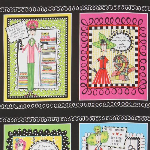 Taking Care of Dolly Fabric Quilt Block Multi Sizes FrEE ShiPPinG WoRld WiDE