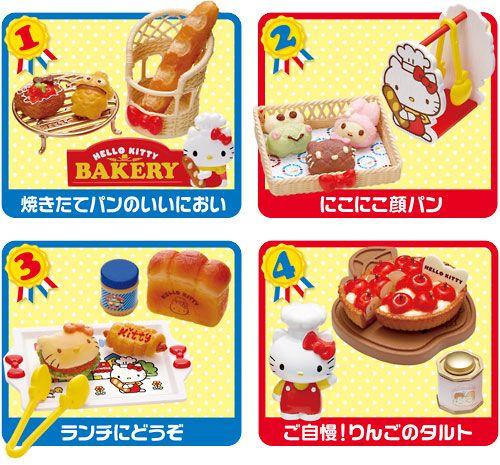 Re-Ment Hello Kitty Bakery Dollhouse Miniature
