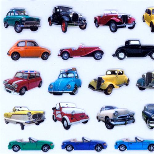 Retro cars classic cars stickers 1