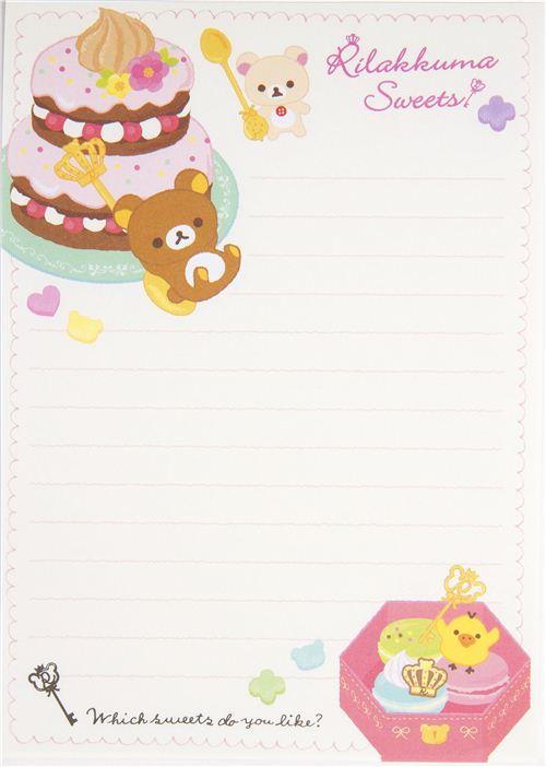 rilakkuma memo pad white bear with sweets memo pads stationery