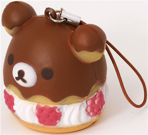 Pastel Cakes Squishy Tag : Colgante blandito para movil oso Rilakkuma pastel frambuesa - Squishy de comida - Squishy ...