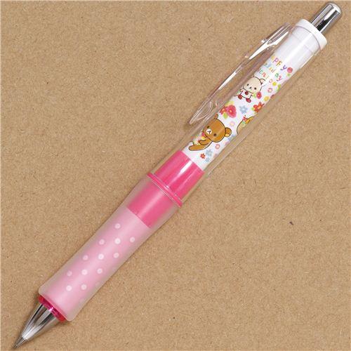 Rilakkuma Picnic Amp Flowers Mechanical Pencil Rubber Pens