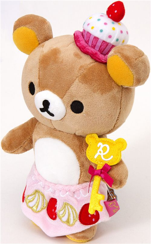 Rilakkuma Plush Toy Brown Bear As Cupcake Plush Toys
