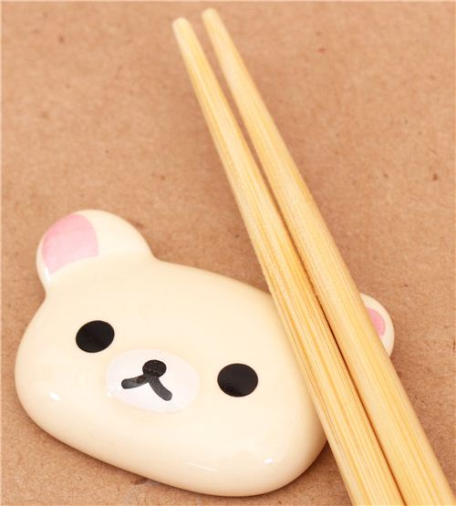 Rilakkuma white bear ceramic chopstick rest bento ...