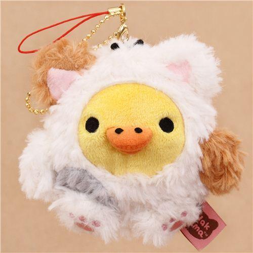 Rilakkuma Yellow Chick As Cat Plush Toy Charm Bird Plush Stuffed