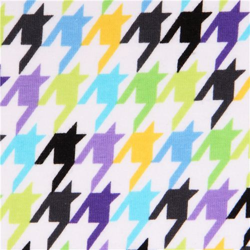 Robert Kaufman Houndstooth Multi Knit Fabric Knit Fabric Fabric