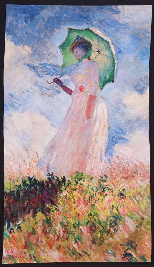 Robert Kaufman Woman With Umbrella Fabric Claude Monet